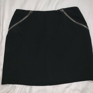 BCBG black zippered skirt